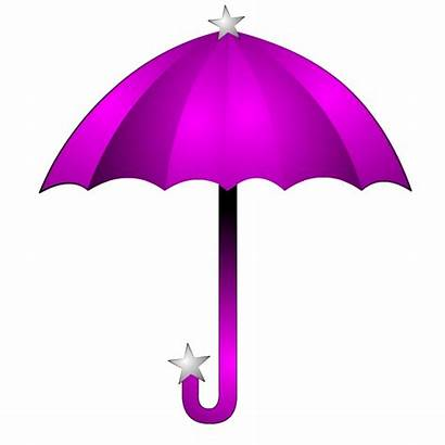 Umbrella Purple Clipart Clip Shower Pink Cliparts