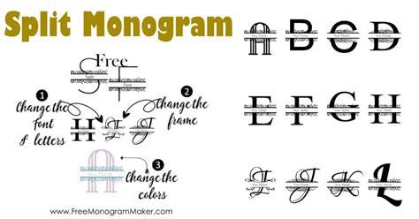 split monogram font maker create  monogram