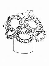 Sunflower Coloring Pages Sunflowers Printable Drawing Print Easy Template Flower Flowers Gogh Van Adults Line Stencil Colornimbus Drawn Petal Getdrawings sketch template