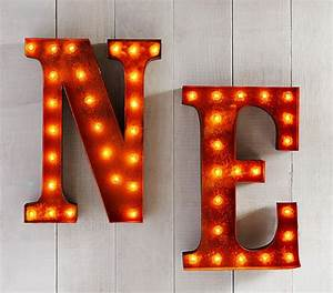 marquee light up letters pottery barn kids With light up letters wall decor