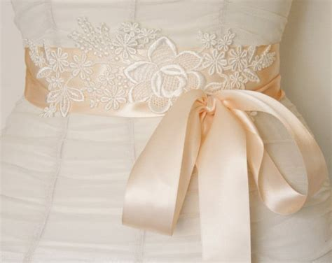 picture of diy beautiful lace bridal sash