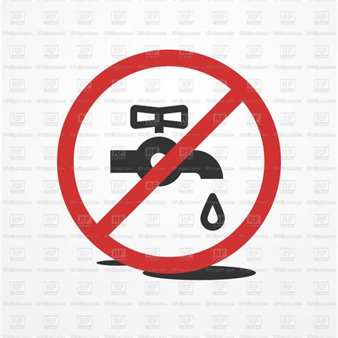stop water leak sign restrictive sign  water tap