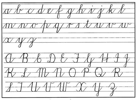 Cursive Letters Lowercase And Uppercase Az Theveliger