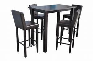 Bartisch Set Günstig : 4 barhocker mit bartisch set essgruppe stehtisch dunkelbraun bistrotisch 120x70x110cm lbh holz ~ Markanthonyermac.com Haus und Dekorationen