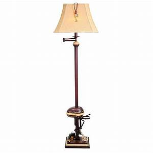 Antique floor lamps lighting and ceiling fans for 4 bulb antique floor lamp