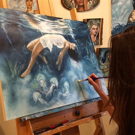 artist creates fantastical worlds  painting  dreams