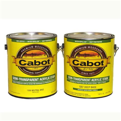 cabot semi transparent acrylic stain  series