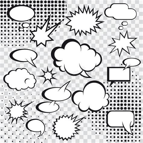 Comic Speech Bubbles Stock Vector. Illustration Of Design