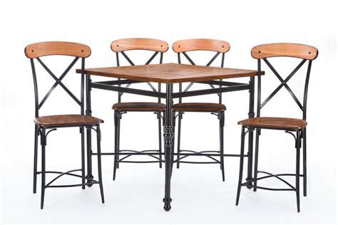 baxton studiobroxburn light brown wood metal 5 pub