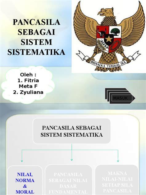 PPT Pancasila Sebagai Sistem Sistematika