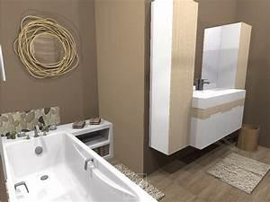 Déco Salle De Bains : d coration de salle de bains mh deco ~ Melissatoandfro.com Idées de Décoration