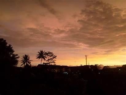 Senja Pemandangan Langit Jingga Warna Cimahi Pemkot