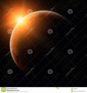 View Of Planet Mars Stock Illustration - Image: 62209036