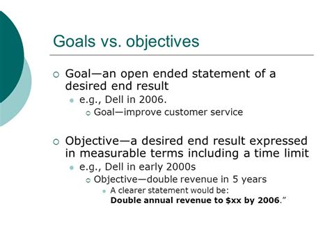 objective and desired goals thevictorianparlor co