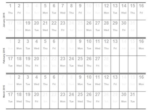 quarterly calendar 2015 template costumepartyrun