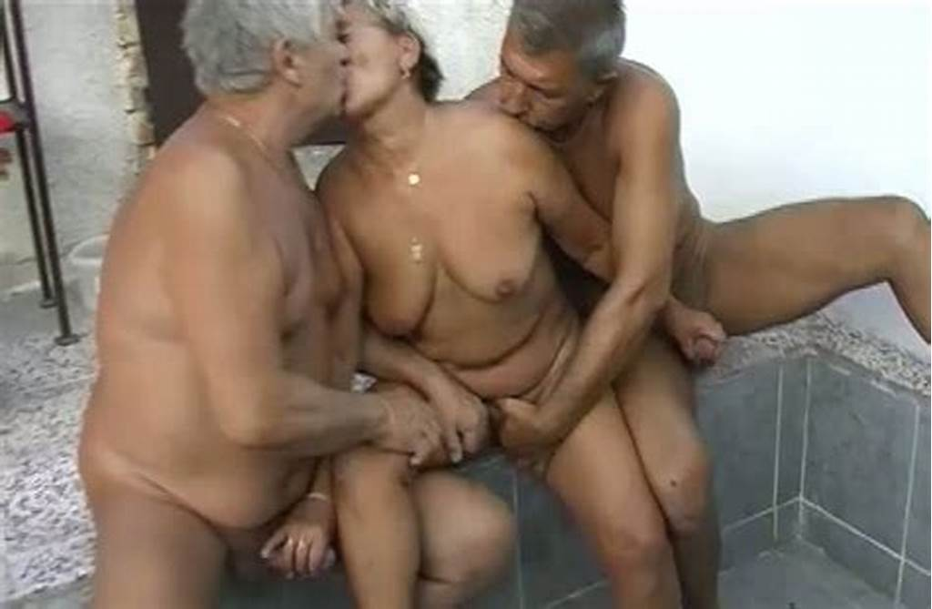 #Short #Haired #Fat #Granny #Enjoys #Mmf #Threesome #With #Two #Old