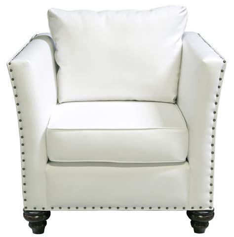 nailhead chair white leather designer8