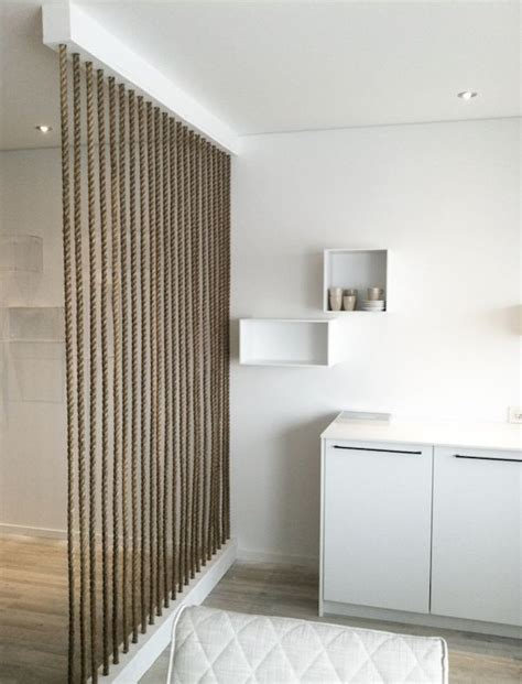 15 Simple Rope Wall For Room Dividers  Home Design And