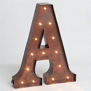 lone elm studios lighted metal letter 12 inch 92669a With lighted letter a