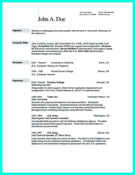 computer science resume sample collection