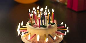 Birthday cake with lots of candles photo and pictures ...