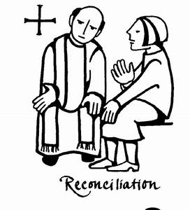 Sacrament of reconciliation coloring pages and clipart ...