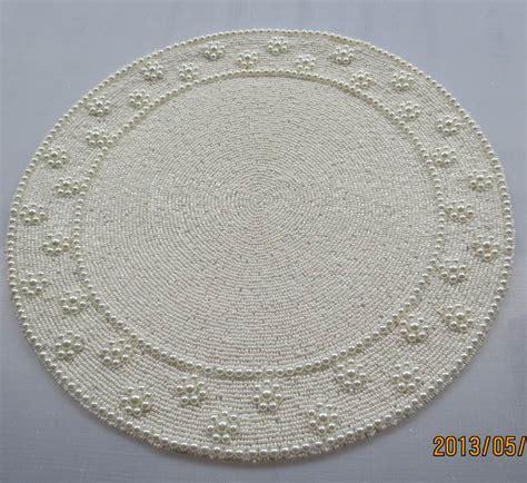 beaded placemats handmade 35 cm posavasos vintage round beaded placemat white coaster red placemats manteles