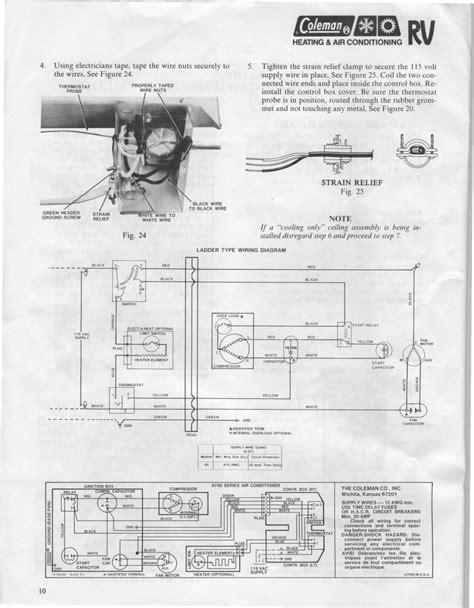 coleman rv air conditioner wiring diagram untpikapps