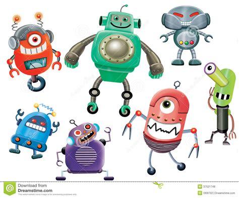 Robot Cartoons Stock Illustration. Image Of Element
