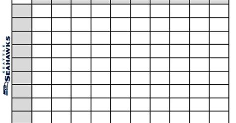Office Football Pool Tips by Printable Bowl Squares 100 Grid Office Pool Nfl