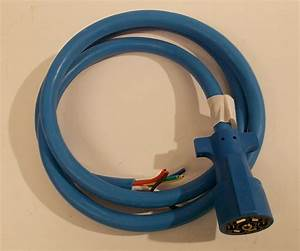 Arctic Blue 7 Way Trailer Rv Cord Cold Weather Wire Double Connector Plug 6ft 769431070678
