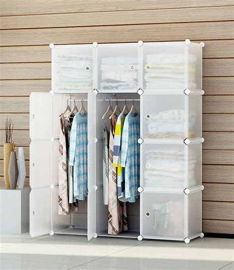 Plastic Wardrobe by Portable Clothes Closet Modular Plastic Wardrobe