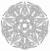 Coloring Pentagram Celtic Printable Wiccan Ga Symbols sketch template