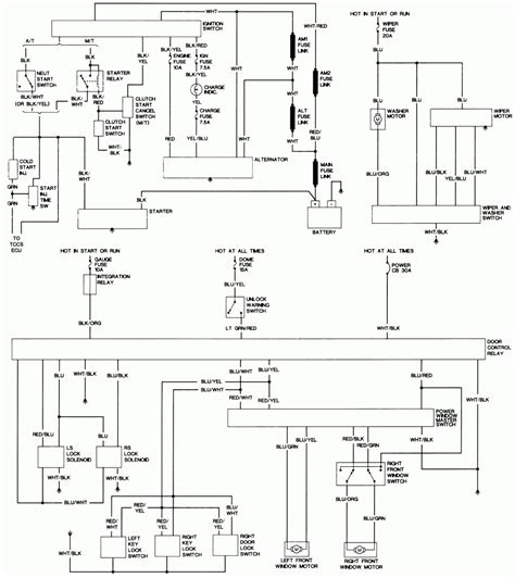 1993 toyota radio electrical system wiring diagram