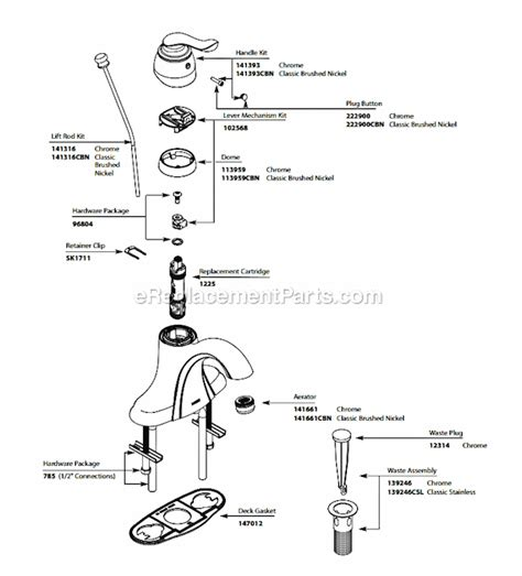 moen  parts list  diagram ereplacementpartscom