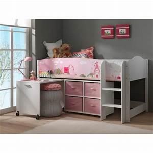 Lit Mi Hauteur Avec Rangement : decoration et mobilier chambre de fille baldaquin lit ~ Premium-room.com Idées de Décoration