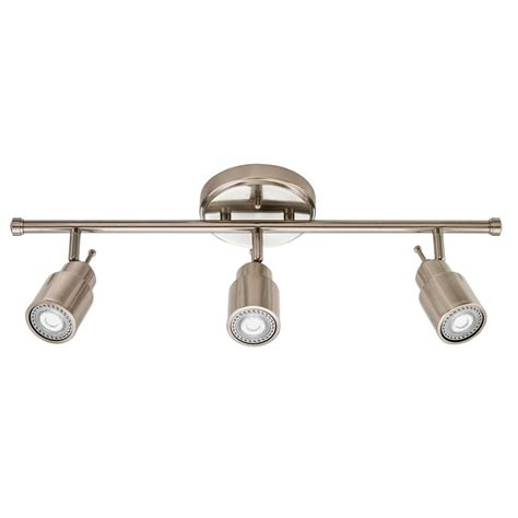 brushed nickel track lighting kits lithonia lighting 2 ft brushed nickel integrated led