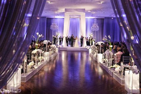 Stunning Chicago Wedding With Purple Lighting And Ivory