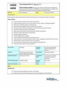 events organiser job description template by baytcom With events manager job description template