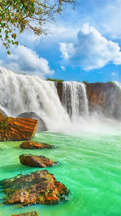 4k Waterfall Vietnam Wallpapers Nur Dry Nature