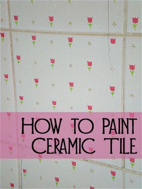 how to paint ceramic tile 1000 images about diy tile counters on