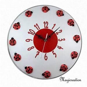 Horloge Murale Silencieuse : horloge murale silencieuse la ronde des coccinelles de ~ Melissatoandfro.com Idées de Décoration