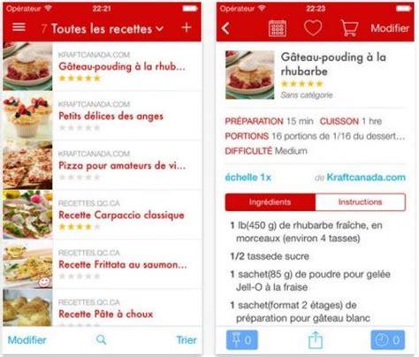application recette cuisine dossier gourmand plus de 18 applis de recettes de