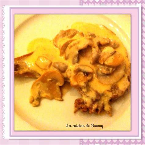 sauce boursin cuisine cotes de porc sauce boursin et chignons recettes porc