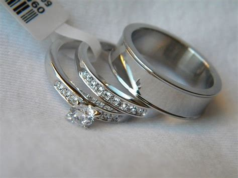 3 Piece His And Hers Wedding Ring Set Couples Wedding Rings Free Box! Fast!!! Daisy Jewellery Head Office Michael Hill Jewelry Bloomingdale Il Mococo Opal Lane Cleaner Limoges Porcelain Box Foot