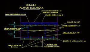Detalle Plafon Tabla - Roca DWG Block for AutoCAD