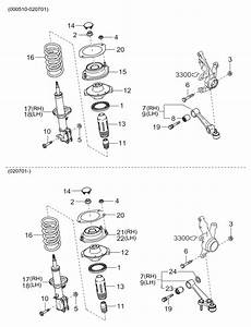2004 Kia Rio Suspension Mechanism-front