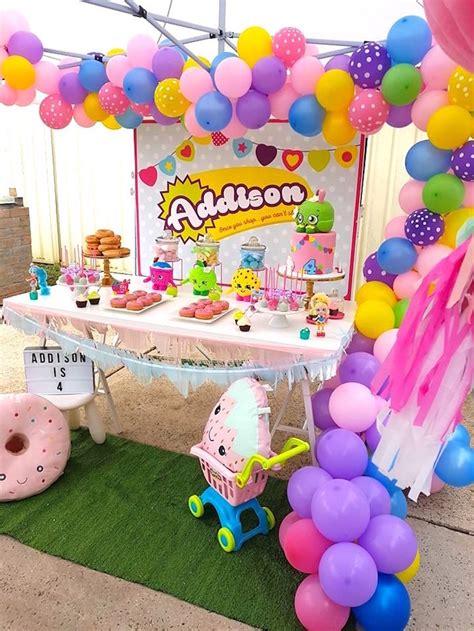karas party ideas addisons shopkins birthday party