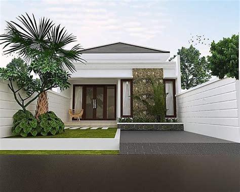 Desain Rumah Minimalis 1 Lantai Dengan Batu Alam Sinergi Stone