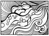 Abstract Coloring Pages Adults Printable Adult Getcoloringpages Advanced sketch template